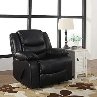 Bonded Leather Rocker Recliner Living Room Chair