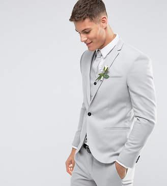 Noak Skinny Wedding Suit Jacket in Pale Gray