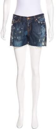 J Brand Distressed Mid-Rise Mini Shorts