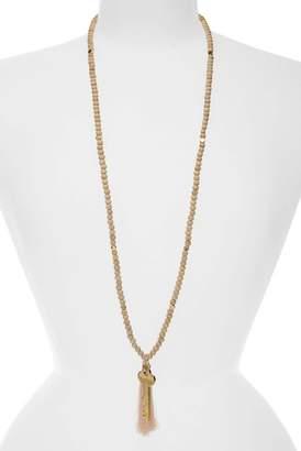 The Giving Keys Inspiration Key Charm & Tassel Beaded Necklace