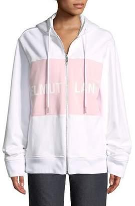Helmut Lang Shayne Oliver Campaign-Print Terry Zip-Up Jacket