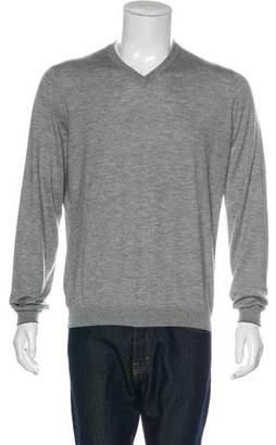 Brunello Cucinelli Cashmere & Silk V-Neck Sweater