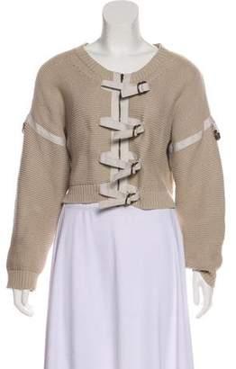 Stella McCartney Knit Cropped Zip-Up Sweater