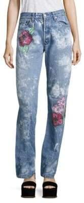 Vintage 501 Splatter Rose Boyfriend Jeans