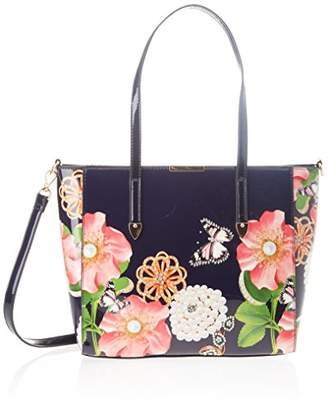 a0c898af7432 Yves Saint Lau Navy Blue Patent Leather Large Downtown Tote Bag