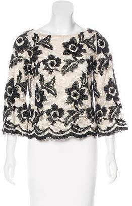 Tracy Reese Embroidered Lace Top