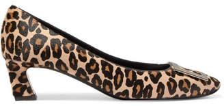 Roger Vivier Trompette Embellished Leopard-print Calf Hair Pumps