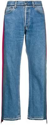 Couture Forte Dei Marmi side stripe straight jeans