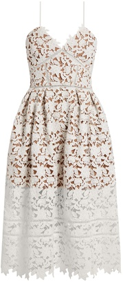 SELF-PORTRAIT Azaelea lace midi dress $500 thestylecure.com