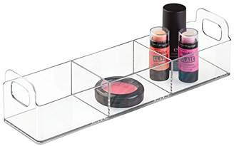 InterDesign 31520 Clarity Cosmetic Organizer Tote for Vanity or Medicine Cabinet – Perfect Storage for Makeup or Cosmetics