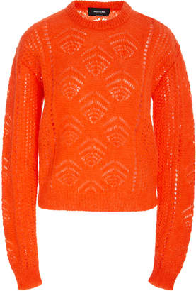 Rochas Scarf Neck Chunky-Knit Sweater