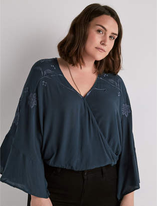 Lucky Brand Embroidered Wrap