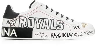 Written Calf Sneaker
