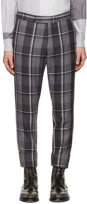 Thom Browne Grey Wool Plaid Trousers $1,440 thestylecure.com