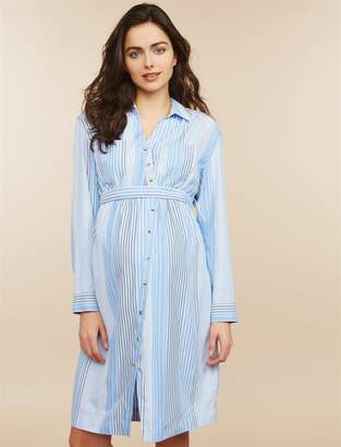 Motherhood Maternity Convertible Sleeve Maternity Shirt Dress