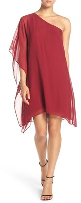 BCBGMAXAZRIA 'Alana' One-Shoulder Asymmetrical Silk Chiffon Dress $228 thestylecure.com