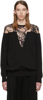 Givenchy Black Lace-Trimmed Sweater