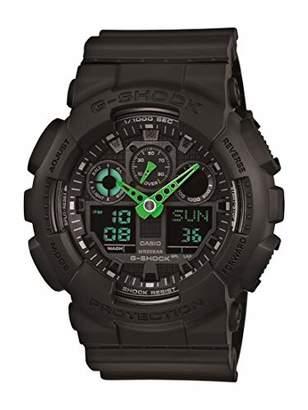 G-Shock Casio Men's XL Series Quartz 200M WR Shock Resistant Resin Color: Black (Model GA-100C-1A3CR)