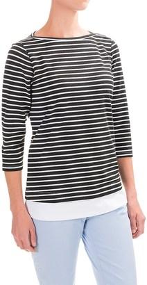 FDJ French Dressing Nautical Stripe Fooler Shirt - Elbow Sleeve (For Women) $19.99 thestylecure.com