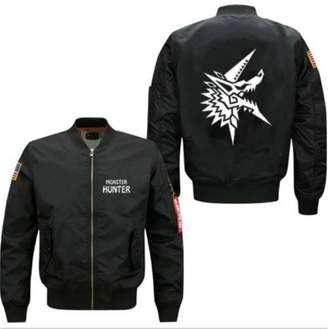 Hunter MALETTN Monster New Hot Spring Men Bomber Flight Jacket Print Baseball Coat