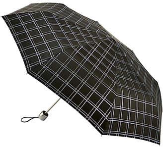 Fulton Minilite Sparkle Check Umbrella, Black