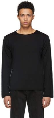 Comme des Garcons Black and Grey Wool Sweater