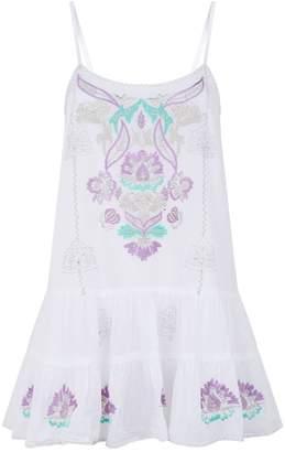 Juliet Dunn Embroidered Cotton Camisole Dress
