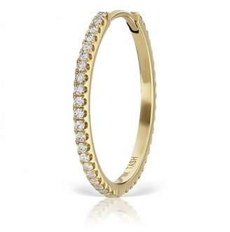Maria Tash 15.5mm Diamond Eternity Single Hoop Earring - Yellow Gold