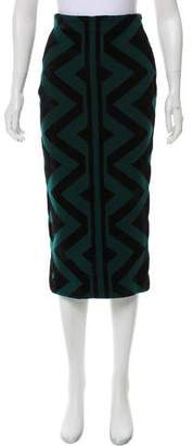 Burberry Midi Pencil Skirt
