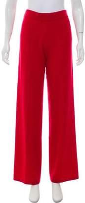 Neiman Marcus Cashmere High-Rise Pants