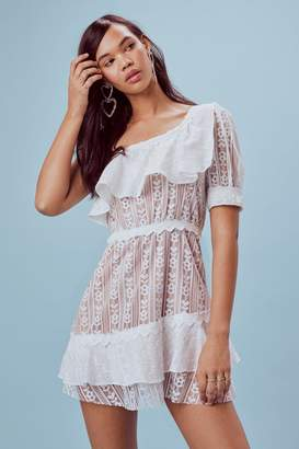 For Love & Lemons Lovebird Lace Minidress