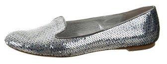 Alexander McQueenAlexander McQueen Sequined Round-Toe Flats