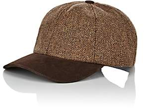 Crown Cap MEN'S WOOL & SUEDE BASEBALL CAP-BROWN