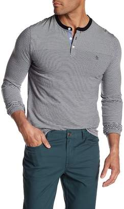 Original Penguin Long Sleeve Engineered Stripe Shirt