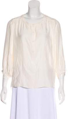 Rag & Bone Silk Long Sleeve Blouse