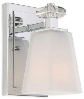 Quoizel Supreme 1-Light Bathroom Wall Sconce in Polished Chrome