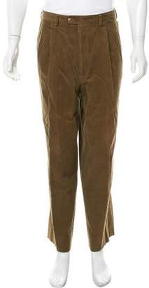 Luciano Barbera Corduroy Flat Front Pants