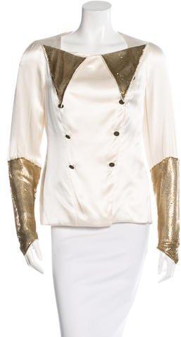 Chanel Embellished Silk Blouse