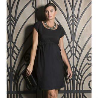 Angel Maternity Black Maternity Party Dress