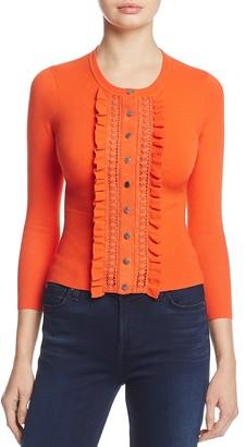 KAREN MILLEN Ruffle Cardigan - 100% Exclusive $170 thestylecure.com