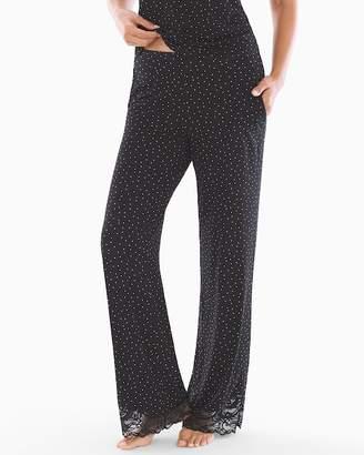 Cool Nights Lace Detail Pajama Pants Festivity Black SH