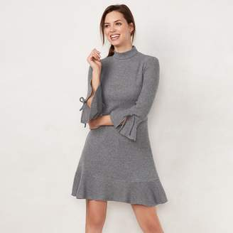 Lauren Conrad Women's Mockneck Flounce-Hem Sweater Dress
