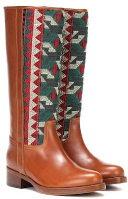 Etro Paneled leather boots