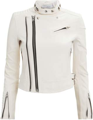 IRO Lucia White Leather Jacket
