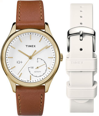 Timex IQ+ Move Womens Brown Smart Watch-TWG013600F5 $149.95 thestylecure.com