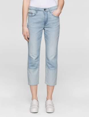 Calvin Klein boyfriend fit light wash cropped jeans