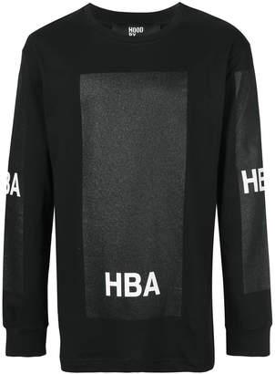 Hood by Air glitter box sweatshirt