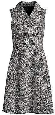 Donna Karan Women's Tweed Double Breasted Blazer Dress