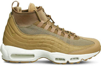 Nike 95 Sneakerboot leather and fabric high-top trainers