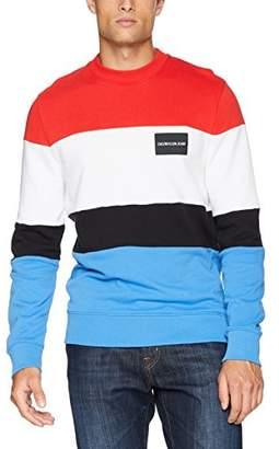 Calvin Klein Men's Institutional Logo Crew Neck Sweatshirt